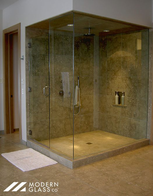 Private Residence Heavy Glass Shower Door